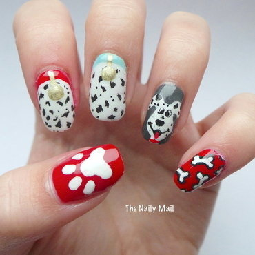 Disney's 101 Dalmatians nail art by The Naily Mail