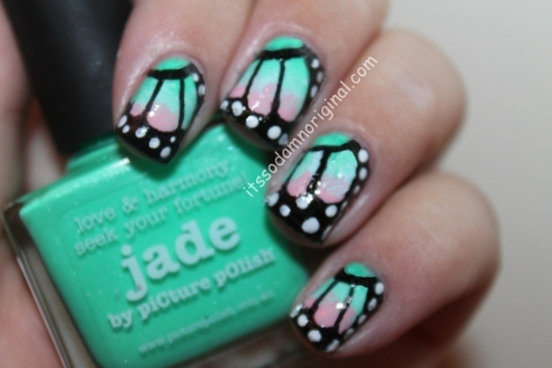 Butterfly wings nail art nail art by Itssodamnoriginal