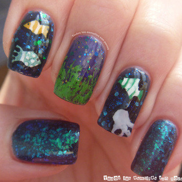 Under the sea nail art by Maria