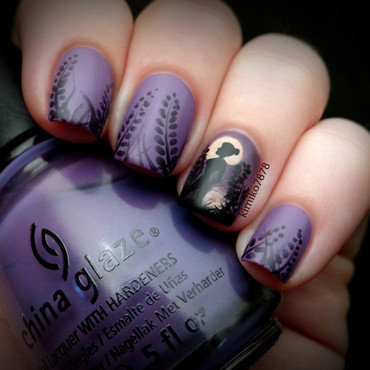 Silhouette on Sunset nail art by Kim