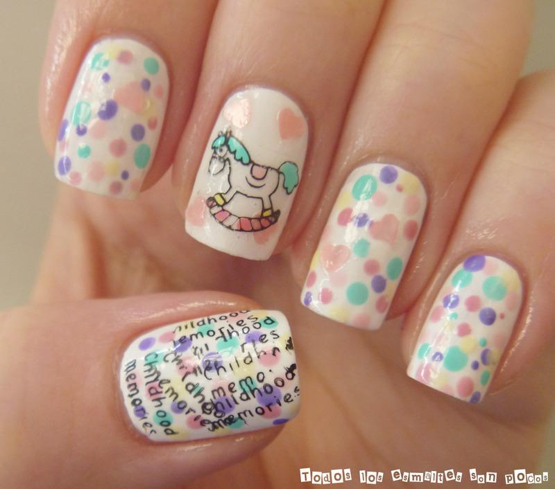 Chilhood memories nail art by Maria