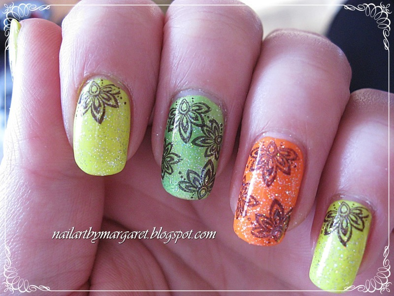Neonki nail art by Margaret Nail Art
