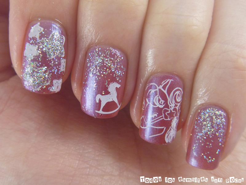 Pegasus manicure nail art by Maria