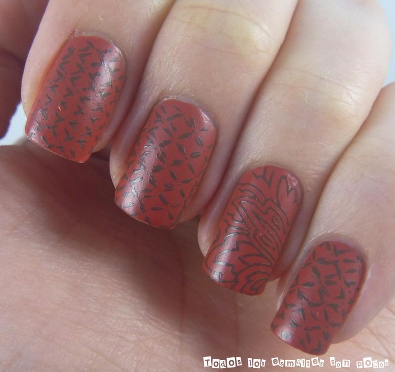 Bolso troquelado nail art by Maria