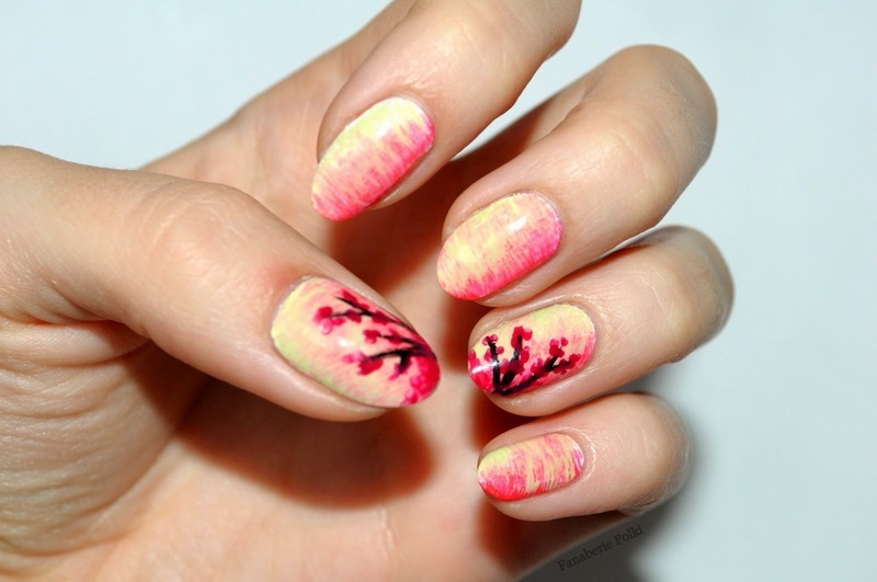 Fun Brush - Cherry Blosson nail art by Carolina