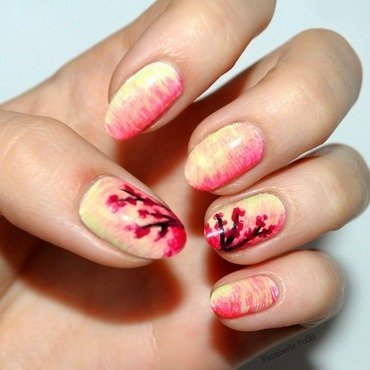 Fun Brush - Cherry Blosson nail art by Carolina
