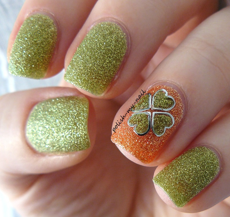 St. Patrickis day nail art by Ewlyn