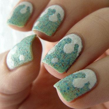 Pistachio ice cream.  nail art by Ewlyn