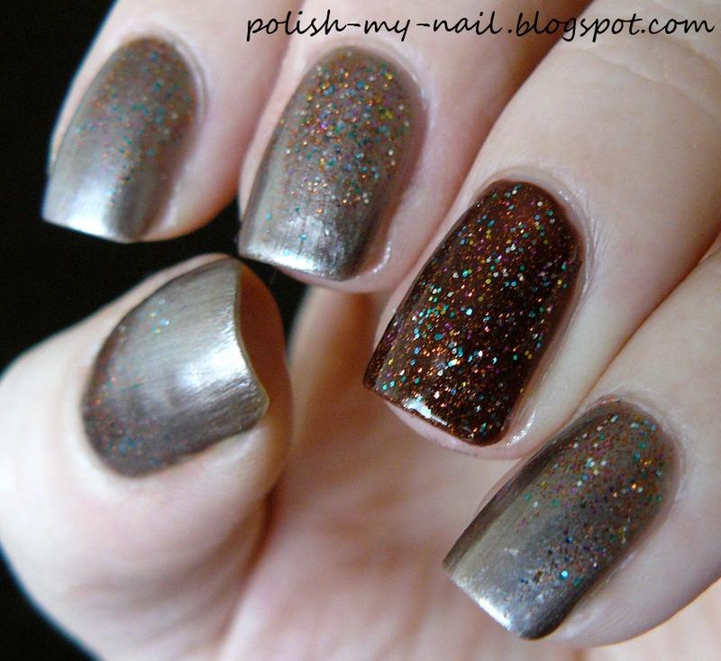 Glitter gradient nail art by Ewlyn