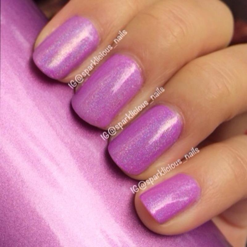 "China Glaze That's Shore Bright and Glitter Gal Australia Holographic Turbulence Swatch by Amanda ""Sparklicious Nails"""