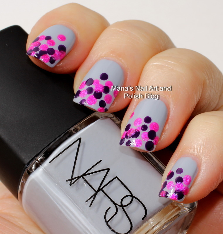 "Galathee dots nail art by Maria ""Maria's Nail Art and Polish Blog"""
