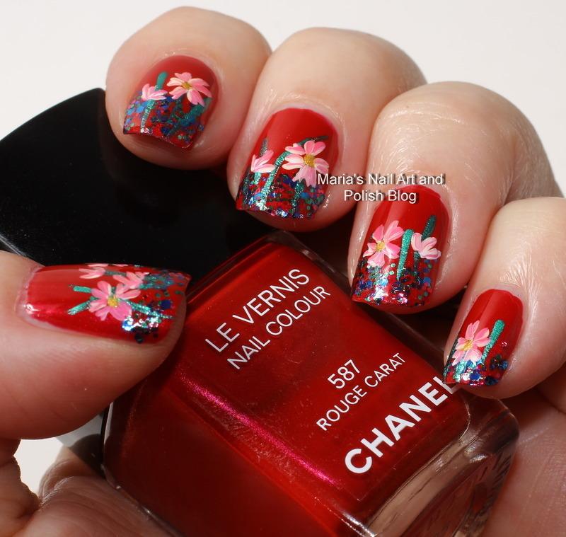 """Fangtastic rouge carat nail art by Maria """"Maria's Nail Art and Polish Blog"""""""