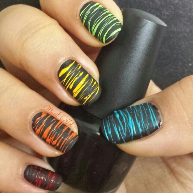 Sugar Spun Rainbow Nails nail art by OnailArt