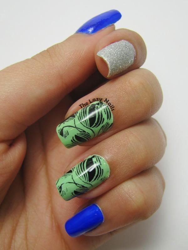Cool toned skittlette nail art by Hadas Drukker