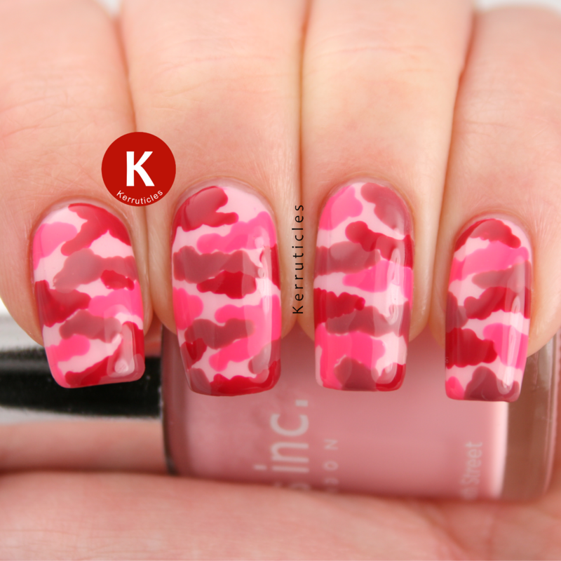 Pink Camouflage Nail Art By Claire Kerr Nailpolis Museum Of Nail Art
