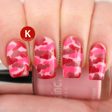 Pink camouflage nails ig thumb370f