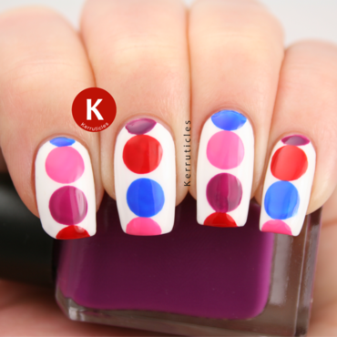Pink red purple blue geometric circles nails ig thumb370f