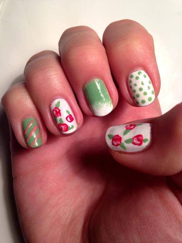 Summer's coming nail art by Anna Malinina