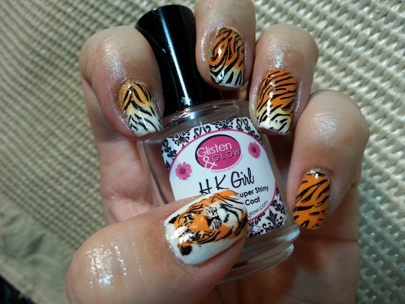 Tiger Nails nail art by Silje Bannister - Tiger Nails Nail Art By Silje Bannister - Nailpolis: Museum Of