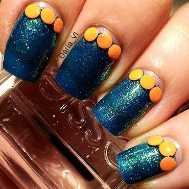 Blue oranges.  nail art by Daria