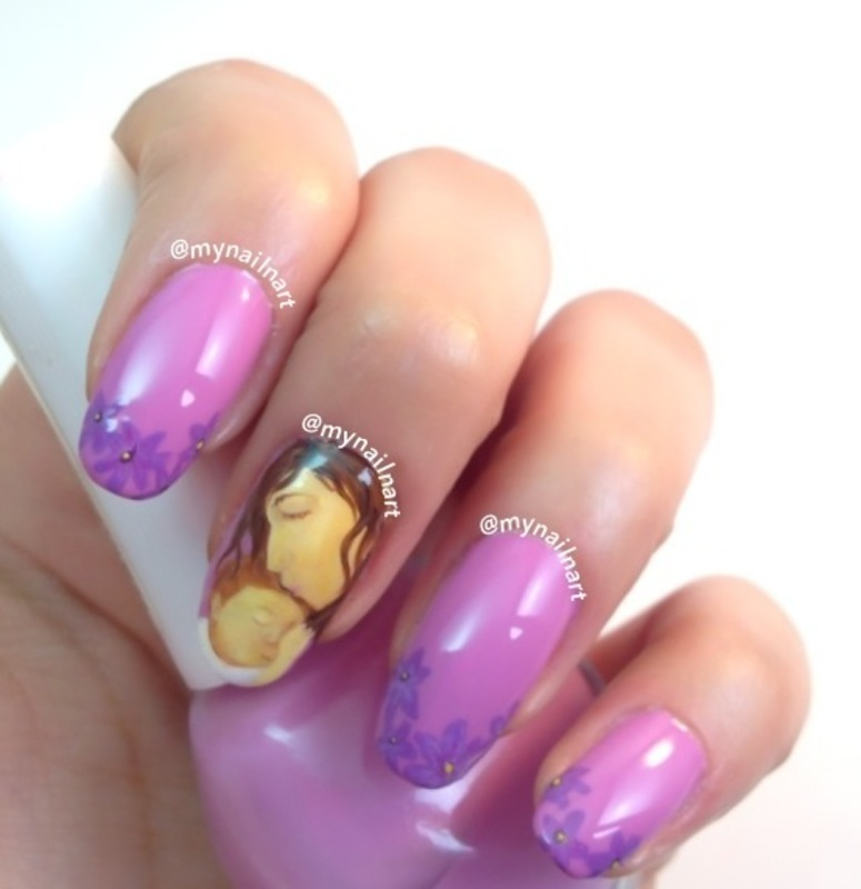 mother and child nail art by mynailnart