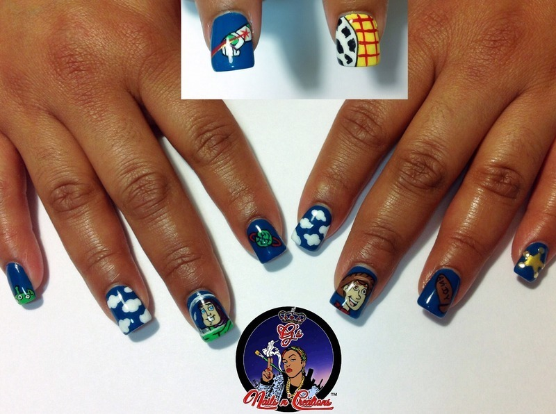 Toy Story nail art by G's Nails N' Creations