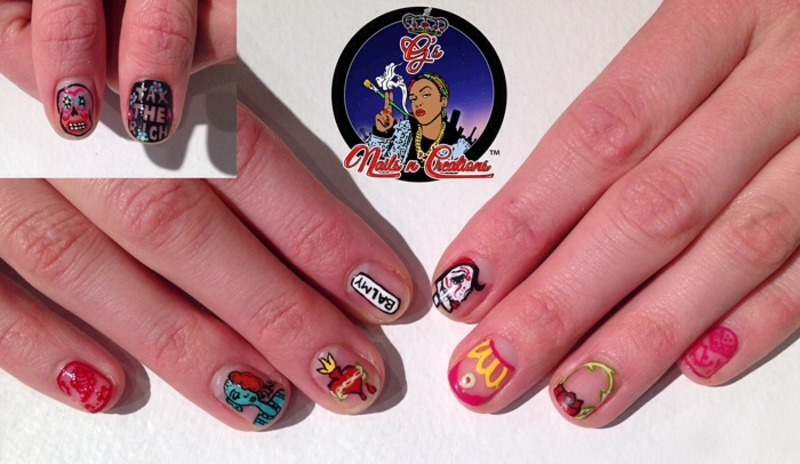 Balmy Alley/2AM nail art by G's Nails N' Creations