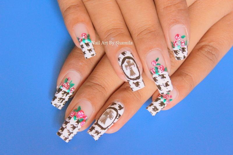 Hounds tooth Nail Design nail art by shamila diluckshi