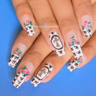Hounds tooth Nail Design nail art by shamila diluckshi