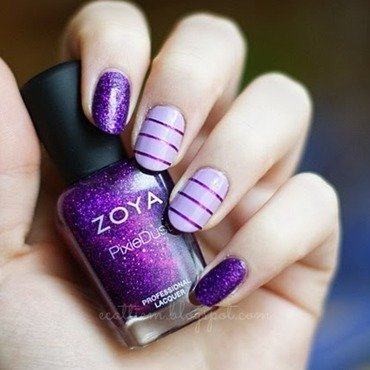 Purple Dust nail art by ecattiem