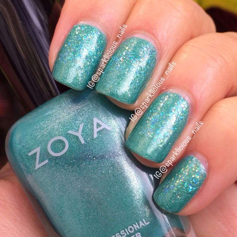 """Zoya Zuza Swatch by Amanda """"Sparklicious Nails"""""""