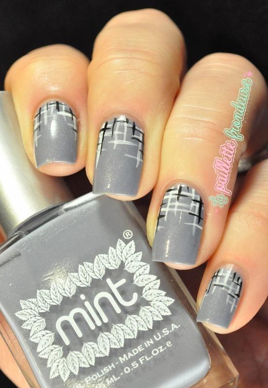 tweed mani nail art by nathalie lapaillettefrondeuse
