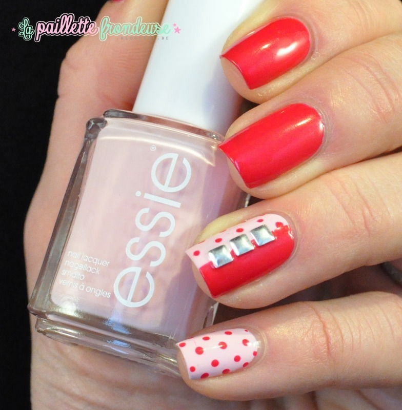mid polka nail art by nathalie lapaillettefrondeuse