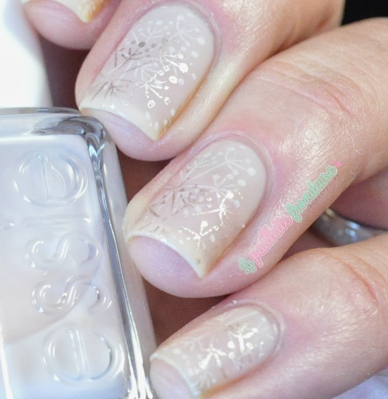 subtle stamped sandwich nail art by nathalie lapaillettefrondeuse