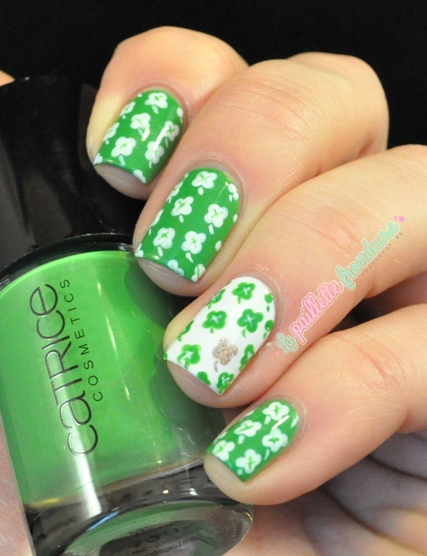 St Patrick day nailart nail art by nathalie lapaillettefrondeuse