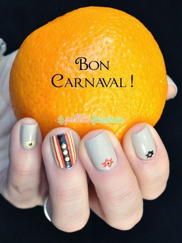 Mardi gras nail art by nathalie lapaillettefrondeuse