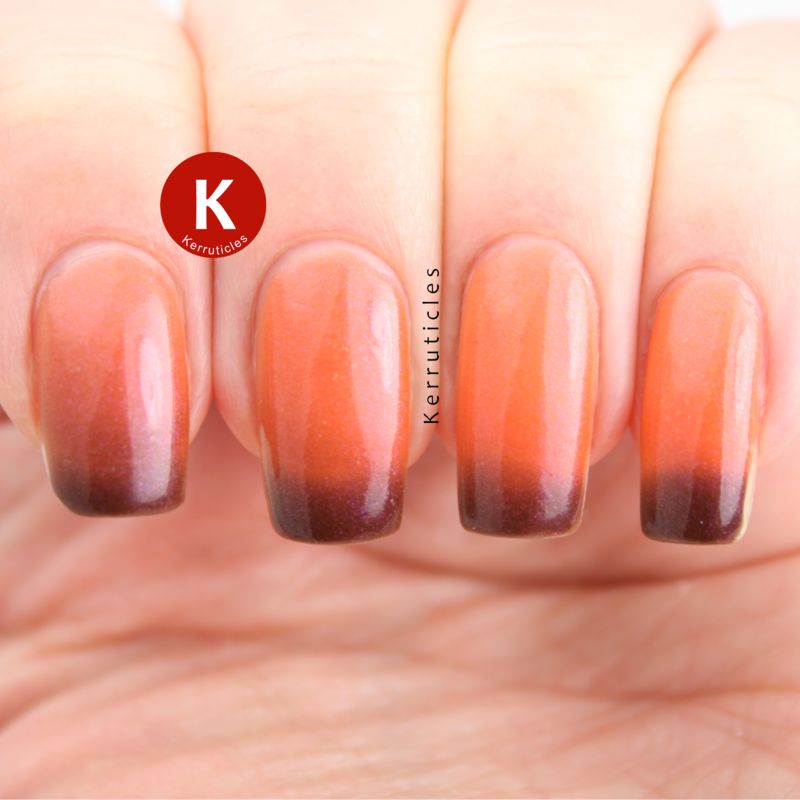 Lacquerdaisical Jaffa Fake Swatch by Claire Kerr
