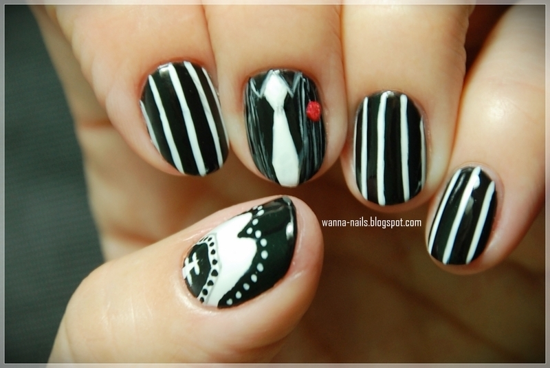 Gangster Nails Nail Art By Oana Chiciu Nailpolis Museum Of Nail Art