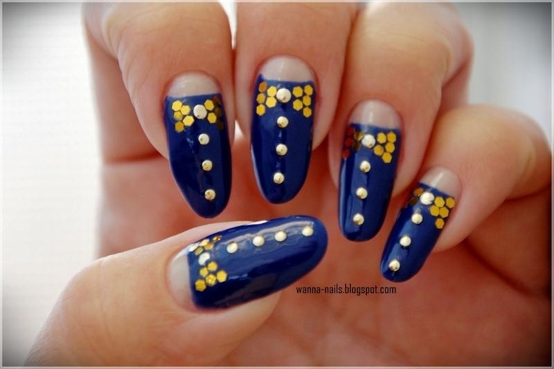 Bows nail art by Oana Chiciu