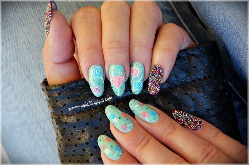 Lollipops nail art by Oana Chiciu