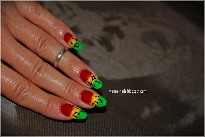Bob Marley - the Legend nail art by Oana Chiciu