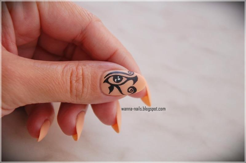 The Eye of Horus nail art by Oana Chiciu