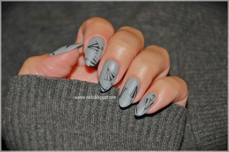 Under my umbrella... ella... ella... eh... nail art by Oana Chiciu