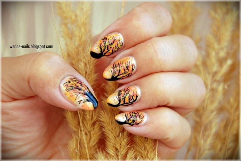 Autumn wind nail art by Oana Chiciu