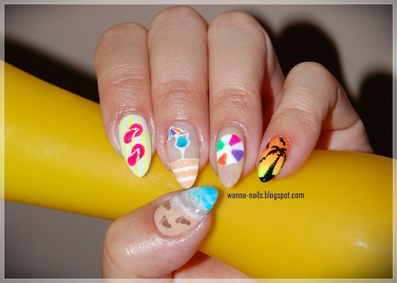 Summer fun nail art by Oana Chiciu