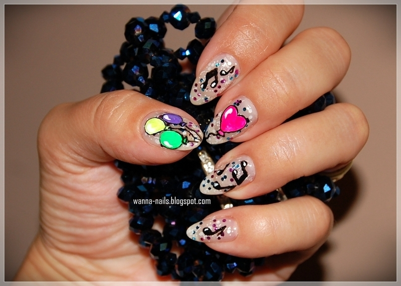 Party time nail art by Oana Chiciu