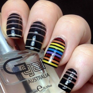Negative Spectrum nail art by Nail Polish Wars