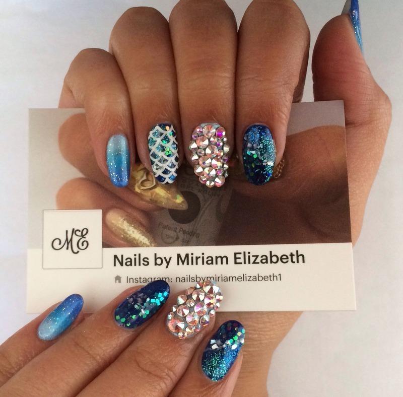 That Mermaid Life nail art by Miriam