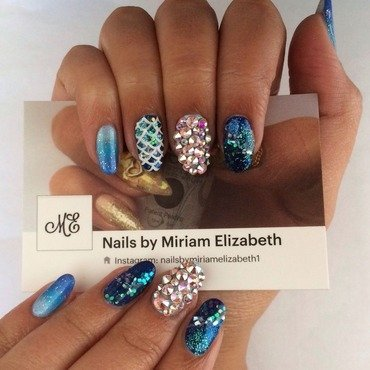 That Mermaid Life nail art by Miriam