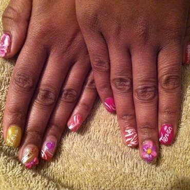 Colors that bloom nail art by Leelee